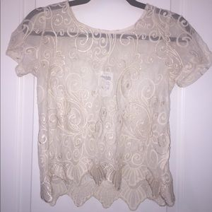 Charlotte Russe gold detailed top!